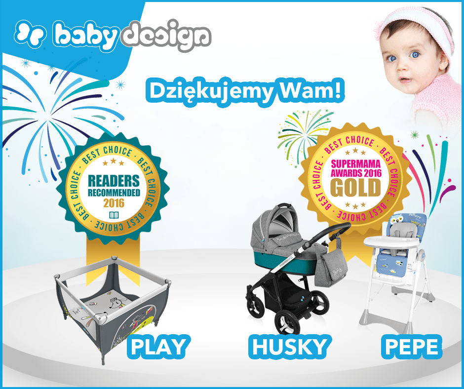 Baby Design Husky продукт  года  2016 в Польше