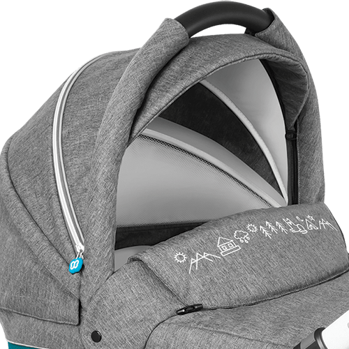Baby Design Husky new  удлиненный капюшон в люльке