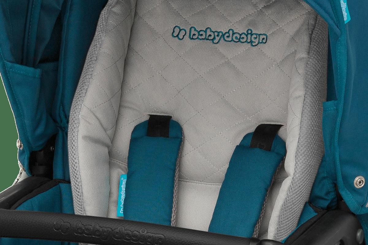Baby Design Lupo Comfort -  аккуратное  шитье, мягкий вкладыш в прогулочный блок