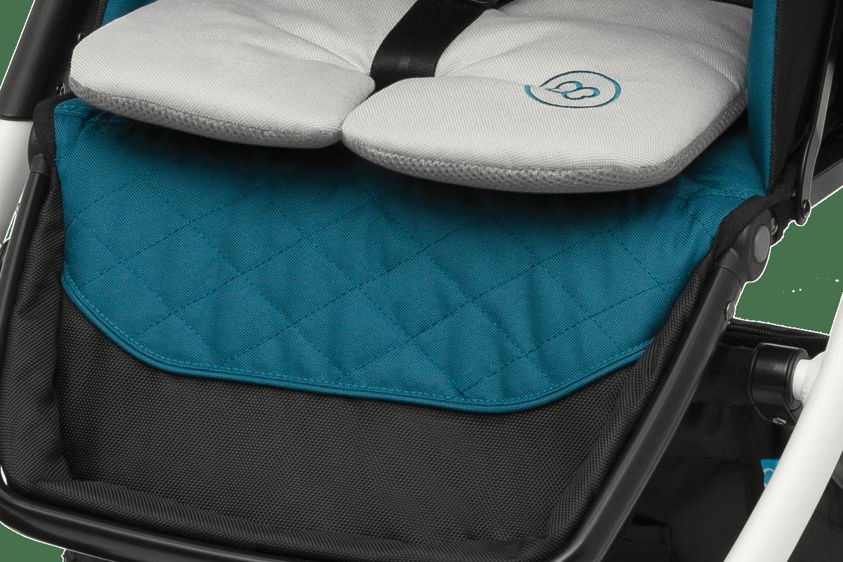 Baby Design Lupo Comfort -  мягкий вкладыш в прогулочный блок, прорезиненная подножка