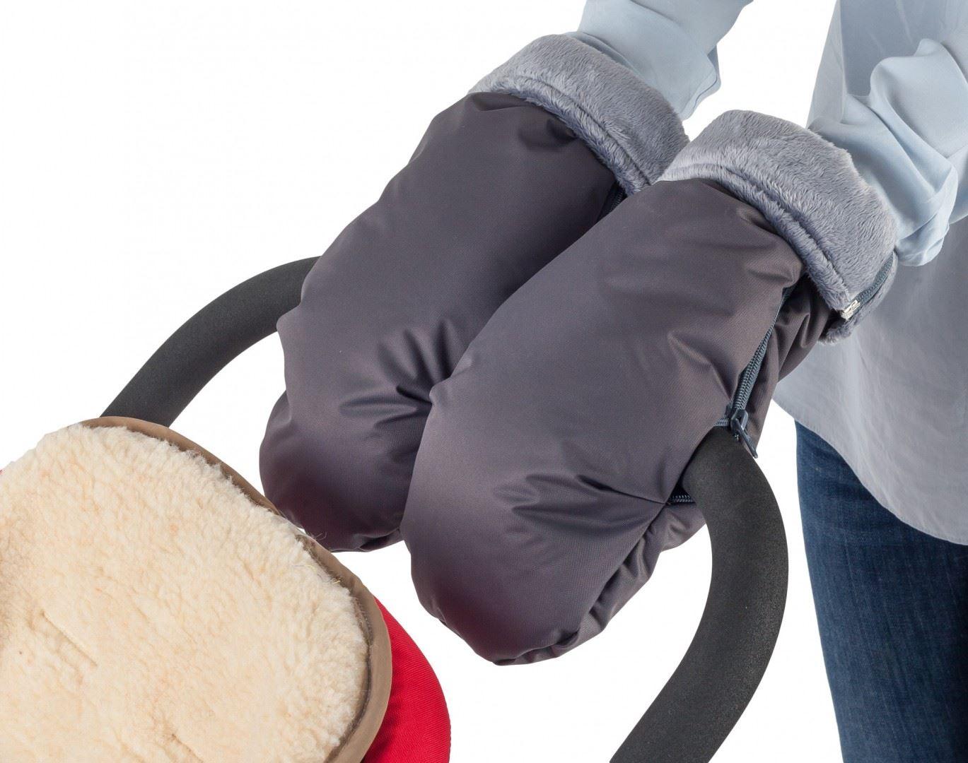 MAMMIE Муфта-рукавички серый