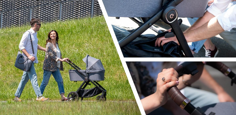 Espiro Only black & rose - легкая коляска для новорожденных