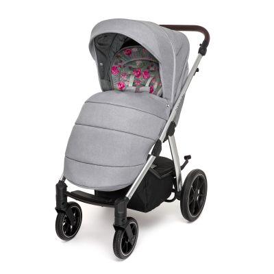 Прогулочный блок Baby Design Bueno 107 gray peony  с чехлом на ноги