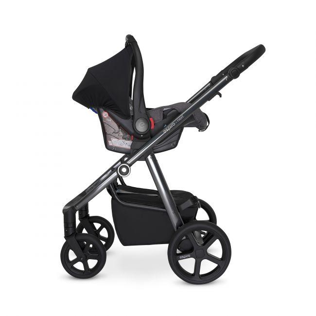 автокресло 0-13 кг Espiro Star на раме коляски для новорожденных Espiro Next Up
