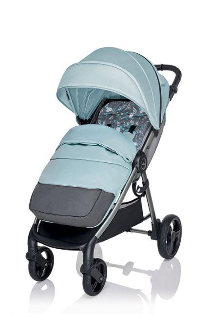прогулочная коляска Baby Design Wave 05 бирюзовая с чехлом на ноги