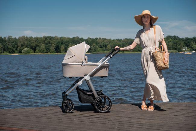 коляска 2 в 1 Baby Design Bueno 09 бежевая